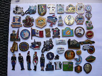 lot 50 pin s police gendarmerie different
