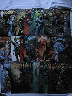 ASCENSION : COMPLETE RUN OF #s 1 to 21. EROTIC GORE. DAVID FINCH. IMAGE. 1997