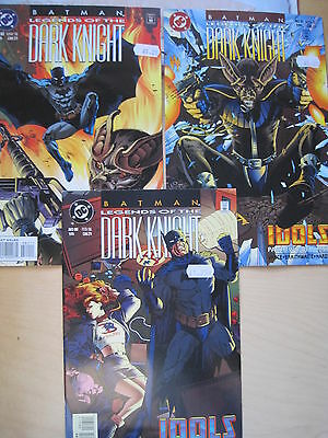 "BATMAN Legends of the Dark Knight #s 80,81,82 ""IDOLS"" COMPLETE 3 PART STORY"