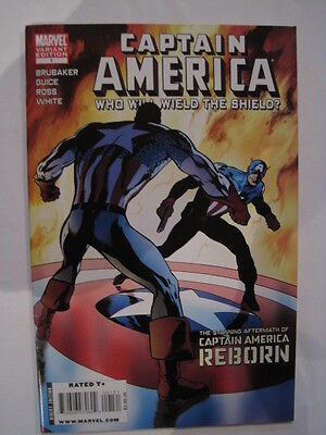 "Captain America ""who Will Wield The Shield""  1 Variant. Brubaker. 2010. Marvel"