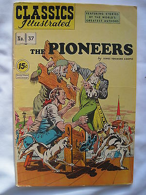 CLASSICS ILLUSTRATED No. 37 : The PIONEERS by JAMES FENIMORE COOPER. FN. 1964