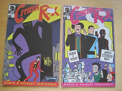 CITIZEN REX : #s 1 & 2 by MARIO & GILBERT HERNANDEZ. DARK HORSE. 2009
