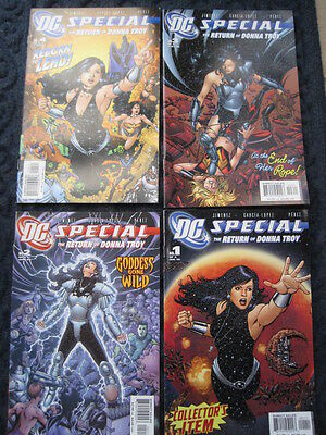 DC SPECIAL : The Return of DONNA TROY -COMPLETE SET of 4. TEEN TITANS. DC. 2005