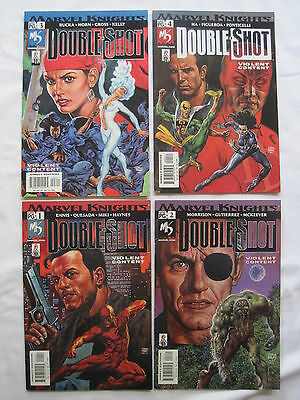 DOUBLE - SHOT : COMPLETE 4 ISSUE SERIES by ENNIS, MORRISON, QUESADA etc. MARVEL