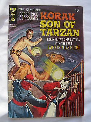 Edgar Rice Burroughs KORAK, SON of TARZAN #  32. GOLD KEY. FN+. 1969