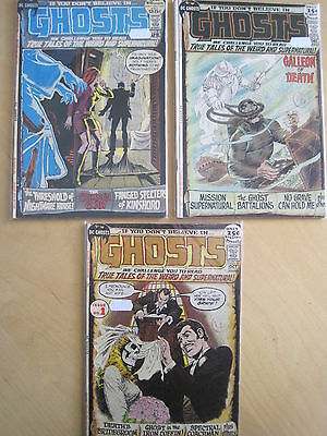 GHOSTS : ISSUES 1 VG+ -FN-, 2 FN, 4 VG+ -FN of 1971 DC SERIES by APARO, WOOD etc