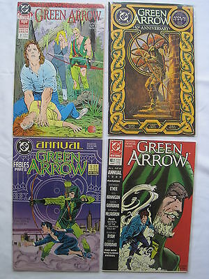 GREEN ARROW : COMPLETE run of Annuals 1,2,3,4 by O'Neil,Grell etc.DC.1988 - 1991
