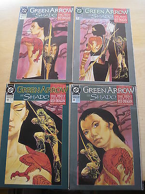 GREEN ARROW : HUNT FOR RED DRAGON, COMPLETE 4 ISSUE STORY by GRELL.SHADO.DC.1992