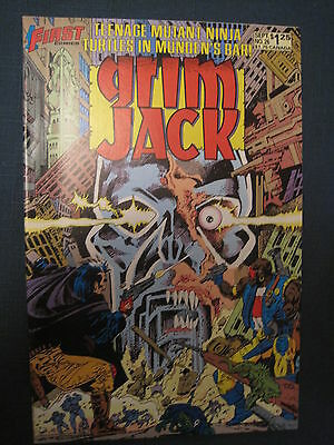 Grim Jack 26 : Rare, Early Teenage Mutant Ninja Turtles Story. 1986. First