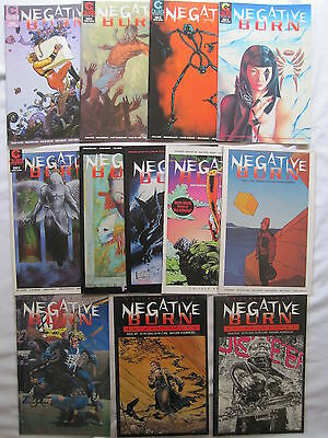 NEGATIVE BURN : BUNDLE of 14 ISSUES by MOORE,BOLLAND,GAIMAN,CASE etcCALIBER.1993