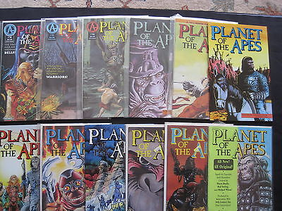 PLANET of the APES : ISSUES 1,2,3,4,5,6,7,8,9,10,11,12 of 1990 SERIES. MALIBU