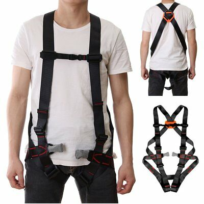 Full Body Fall Protection Safety Construction Climbing Rappelling Harness Belt