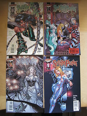 STEAMPUNK 4 : COMPLETE SET of 4 VARIANT COVERS. By BACHALO, KELLY & FRIEND.2000