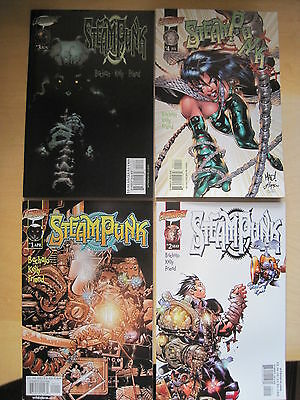 STEAMPUNK : #s 1,2,3,4 COMPLETE by BACHALO, KELLY & FRIEND. WS/CLIFFHANGER. 2000