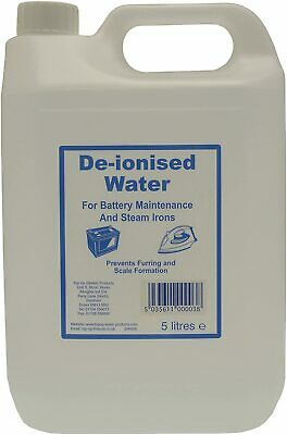 Deionised Water 5 Litre 5L De Ionised Car Battery Steam Iron Distilled