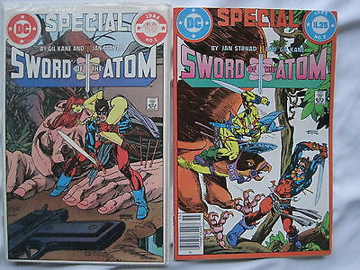 SWORD of the ATOM : SET OF BOTH SPECIALs 1 & 2 by GIL KANE & STRNAD. DC.1984 / 5