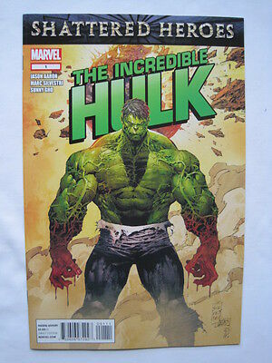 The Incredible HULK   #  1.  By  JASON AARON & MARC SILVESTRI.  MARVEL.  2011