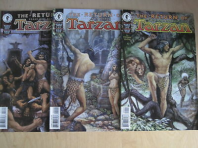 The RETURN of TARZAN : COMPLETE 3 ISSUE SERIES by THOMAS & YEATES.1,2,3. DH.1997