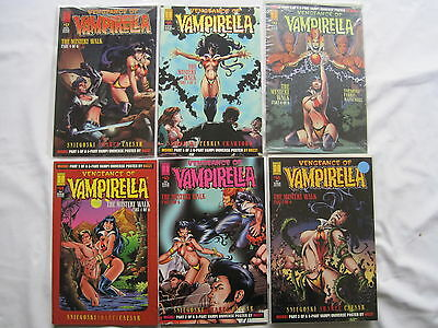 "VAMPIRELLA #s 14 - 19 : ""The MYSTERY WALK"" - COMPLETE 6 ISSUE STORY. HARRIS.1995"