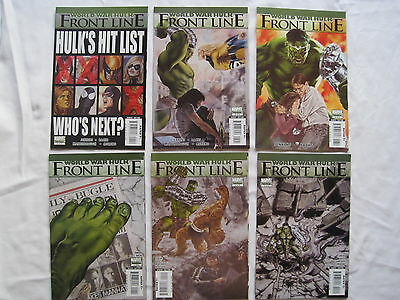 WORLD WAR HULK : FRONT LINE : COMPLETE 6 ISSUE SERIES by JENKINS & BACHS. 2007