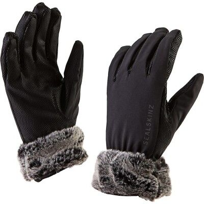 Sealskinz Sea Leopard Lux Womens Gloves - Black Grey All Sizes