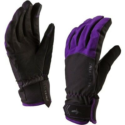 Sealskinz All Season Womens Gloves - Black Purple All Sizes