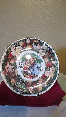 """Royal Doulton Signed """"best Wishes"""" Christmas Plate 1993"""