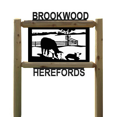 Personalized Signs - Hereford Cattle - Cows - Farm & Ranch Signs - Farming
