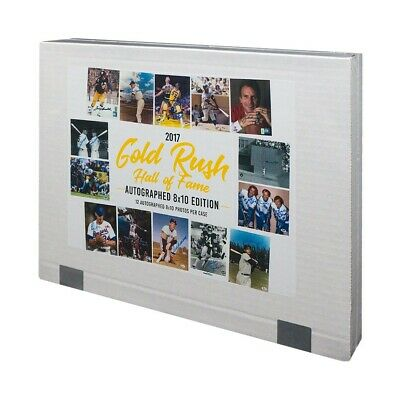 2017 Gold Rush Hall of Fame Multi-Sport Autographed 8x10 Envelope 12-Pack Box