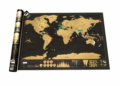 Scratch Map Deluxe by Luckies World Travel Scratch Off Wall Poster Tubed