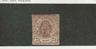 Luxembourg, Postage Stamp, #9 Mint Hinged, 1859
