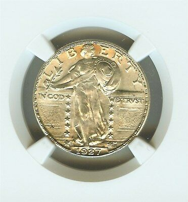 1927-D Standing Liberty Silver 25 Cents  Ngc Ms64