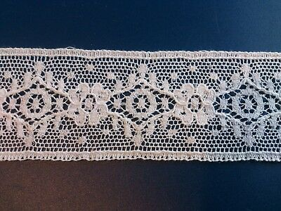 Pretty Cluny Cotton Lace Edging Antique Dolls Bear Trimming Lingerie Night Dress