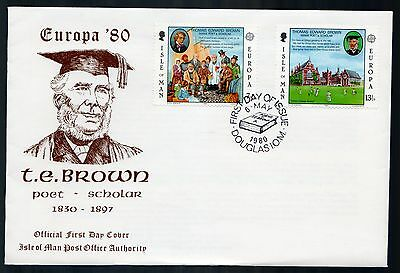 Isle of Man 1980 FDC Europa Thomas Edward Brown