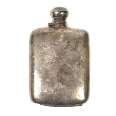 """Vintage E.P.N.S Silver Plated Silverplate England Bar Liquor LARGE Flask 8.10"""""""