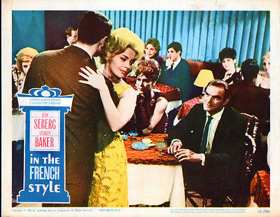 IN THE FRENCH STYLE orig 1963 lobby card JEAN SEBERG/STANLEY BAKER 11x14 poster