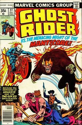 Ghost Rider (1st Series) #27 1977 VG/FN 5.0 Stock Image Low Grade