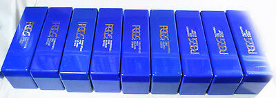Lot Of 6 Pcgs Blue Plastic Boxes/lids, Lightly Used, Each Hold 20 Slabs - Cheap!