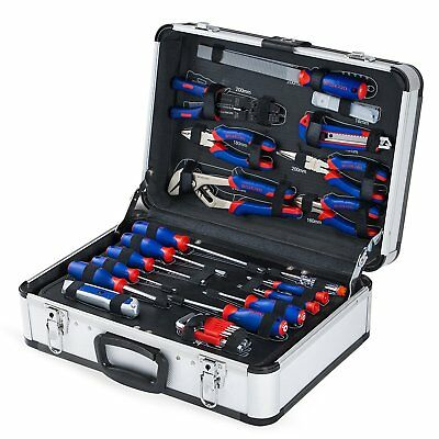WORKPRO 119 Piece Tool Kit With Aluminum Case Mechanic Home Repair Tool Set