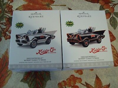 "Hallmark 2017 Ornament 1966 Batmobile Set ""limited And Regular"""