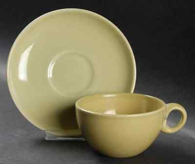 Iroquois Russel Wright CASUAL AVOCADO YELLOW Cup & Saucer 6302012