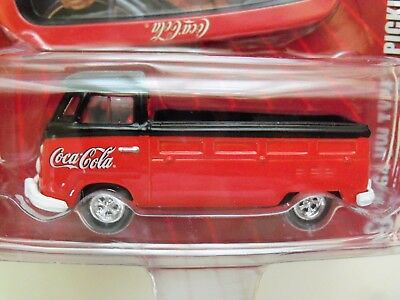Johnny Lightning - Coca-Cola Brand - Tin Tray - 1964 Vw Type 2 Pickup - Diecast