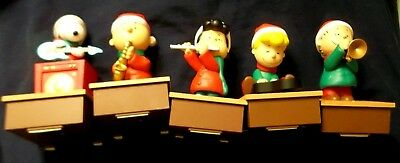 2011 Peanuts Worldwide 5 Piece Musical Band For Christmas From Hallmark