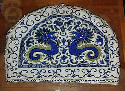 Antique Chinese Embroidered Teapot Cover Textile