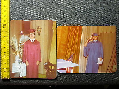 Orig Privat Foto kl. Sammlung Lot Schüler Studenten Uniform Highschool Abi 1976