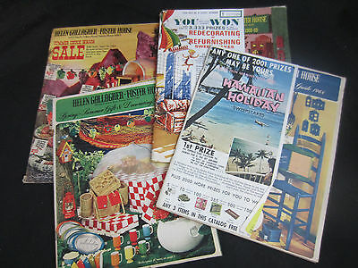 1968-69 vintage Helen Gallagher Foster House catalogs (4)