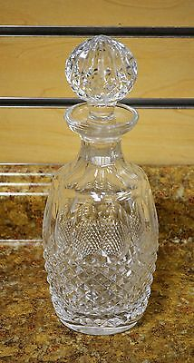 "*Waterford Colleen Short Stem Cut Crystal 10-1/2"" Spirit Decanter w/ Stopper"