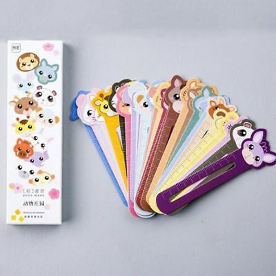 30Pcs Lovely Cute Animal Paper Bookmarks Book Holder Stationery School Supplies