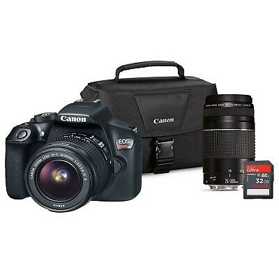 Canon EOS Rebel T6 DSLR Camera Bundle with EF-S 18-55mm IS and EF75-300 III Lens