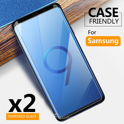 2x Samsung Galaxy S9 S8 Plus Note 9 8 S7 S5 Tempered Glass Screen Protector Film